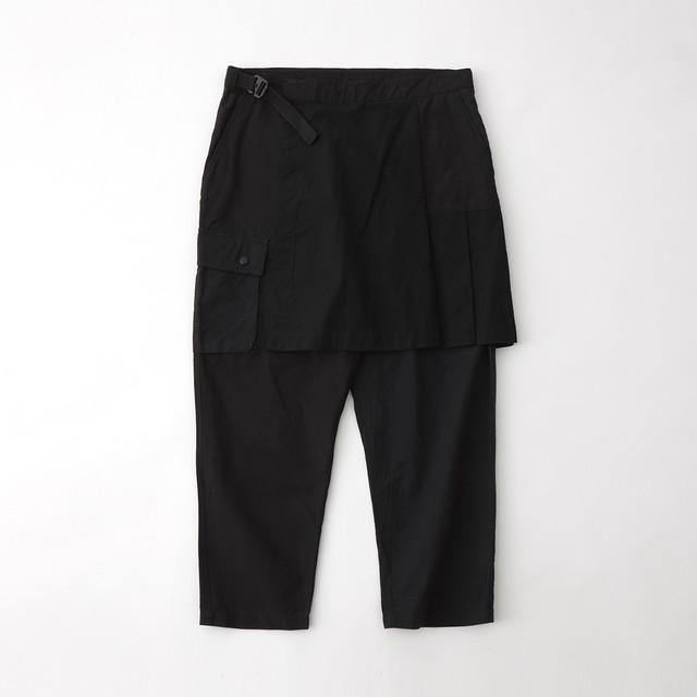 SKIRT CARGO PANTS - BLACK