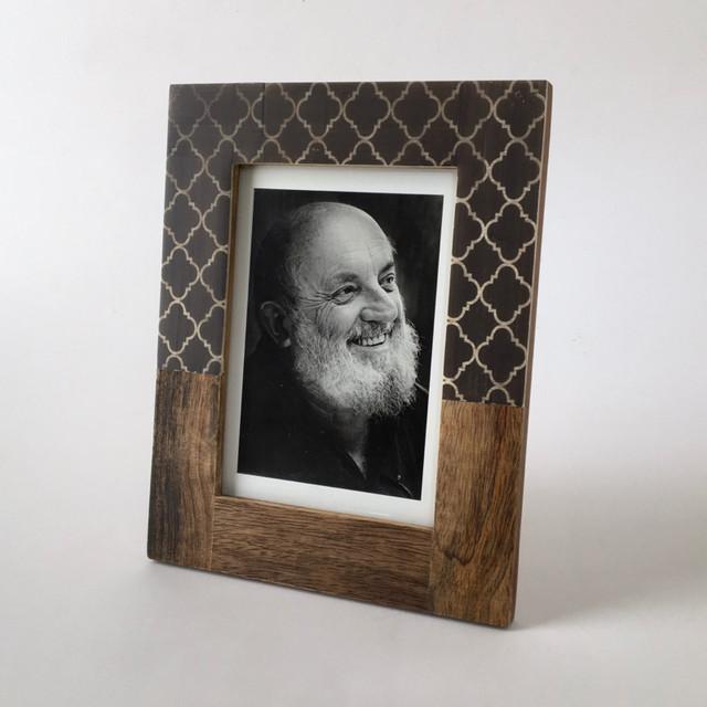 木と水牛の骨のフォトフレーム|Wood & Buffalo Bone Photo Frame