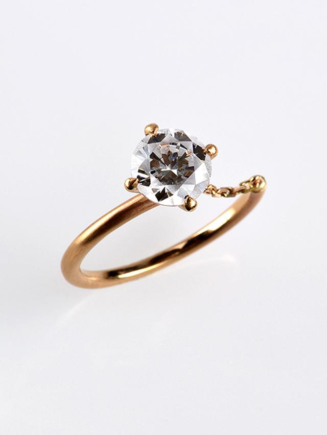 [リング] frost ring / Chain White 7mm