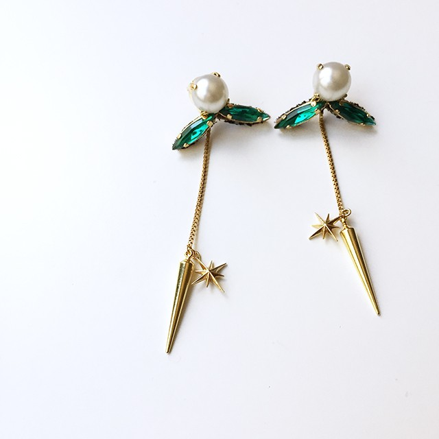 Mix Metallic Drop Earrings ピアス/イヤリング