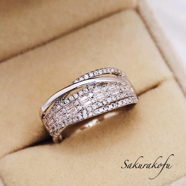 D022 レディース 指輪  人気デザイン シャンパントパーズ  キュービック パヴェ サイズ豊富