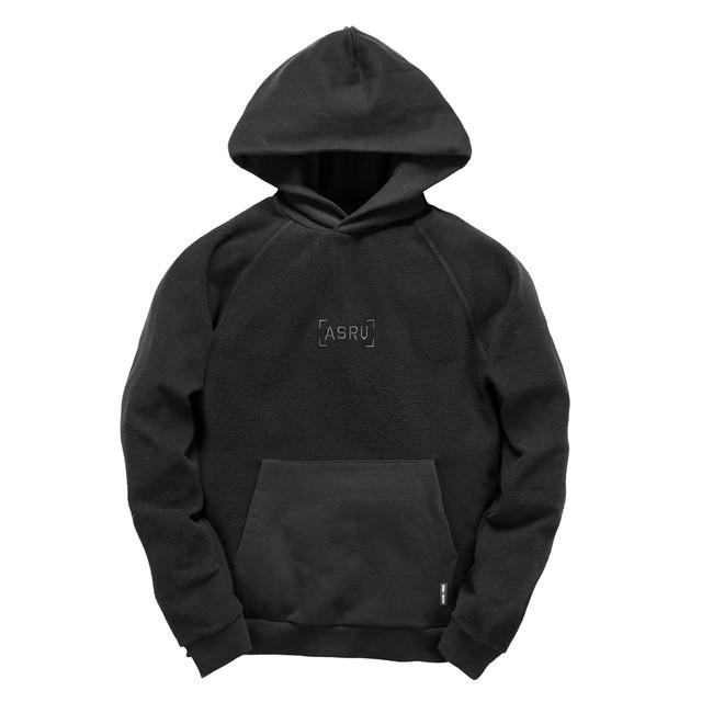 【ASRV】サイドジップテックフーディー - Black