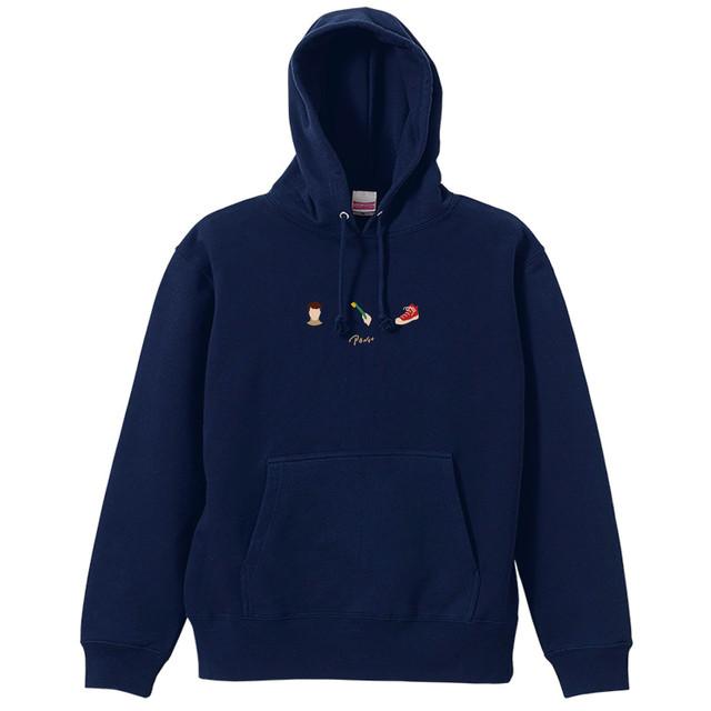 Hoodie(刺繍/Navy/Black)