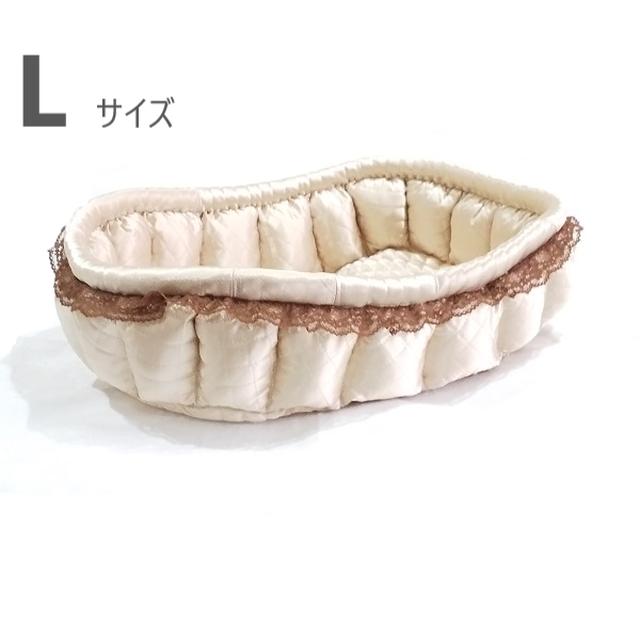 ふーじこちゃんママ手作り ぽんぽんベッド (ライトブルーxアメリカンキャット) Sサイズ