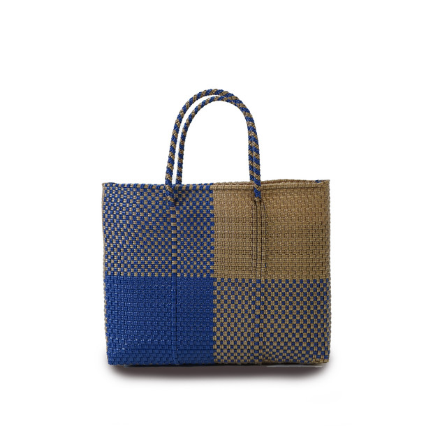 MERCADO BAG BLOCKS  -  Navy x Gold (XS)