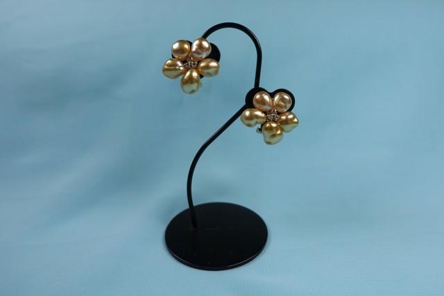 k18天然真珠ゴールデンカラーイヤリング