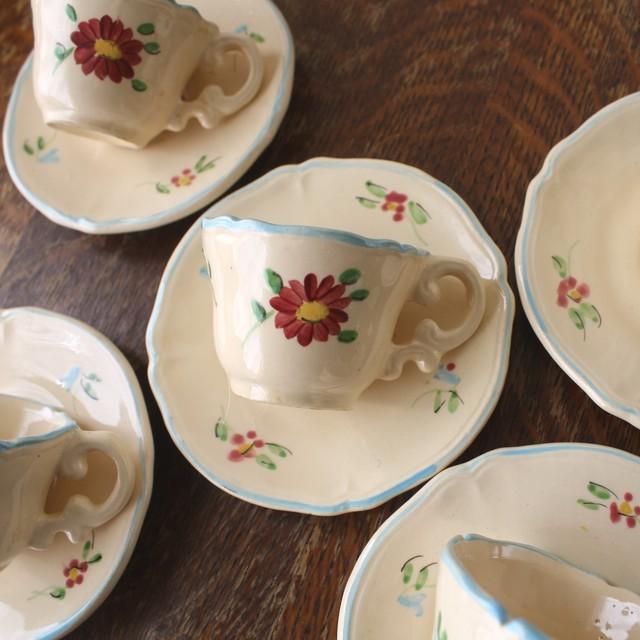 Longchanp花柄ままごとカップ&ソーサー/aa0030
