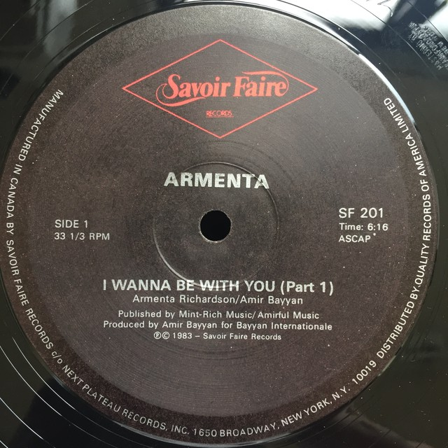 Armenta – I Wanna Be With You