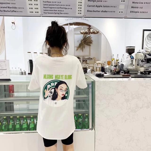 スリット バックプリント Tシャツ 4カラー tk2049