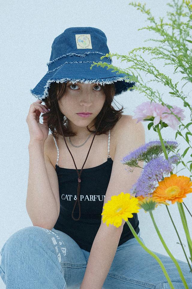 【Cat & Parfum】Ripped Denim Hat