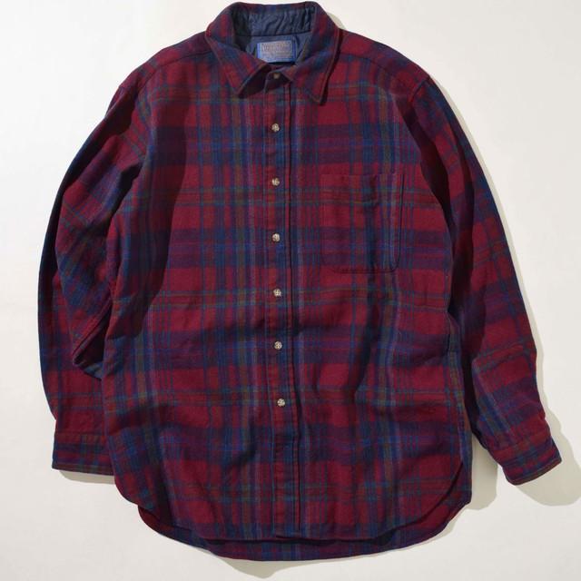 【Lサイズ】PENDLETON ペンドルトン CHECK WESTURN SHIRTS チェックシャツ BGD バーガンディー L 400602200203