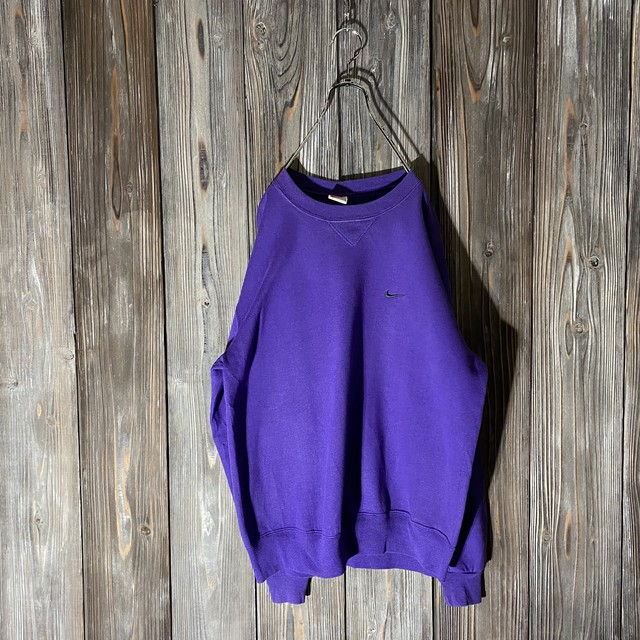 [NIKE]one point purple sweat