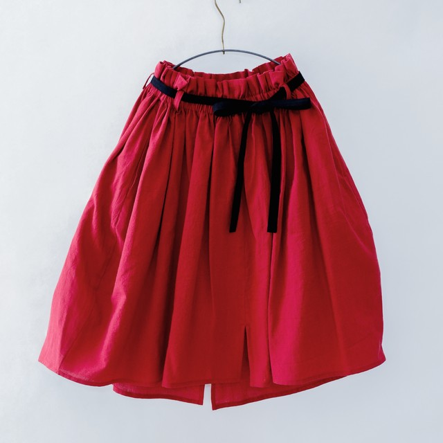 《michirico 2020SS》Center slit skirt / red / S・M