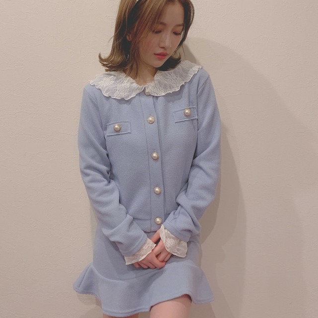 pearl button knit set up (S19-05006K)