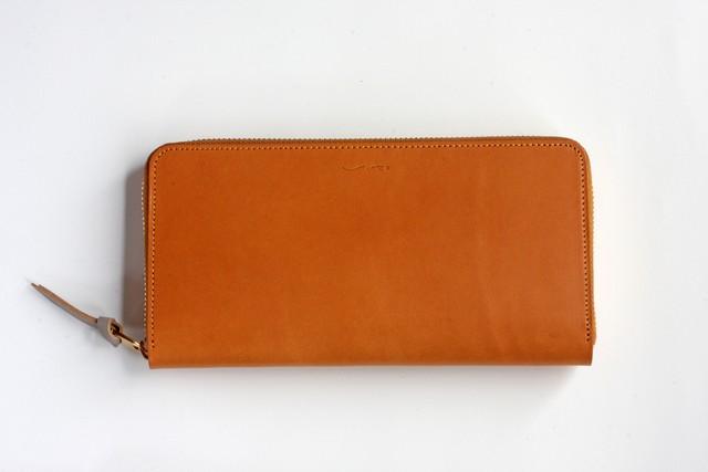 ※完売※イングラサット_タン◆外装◆おとな財布◆ラウンドジップ