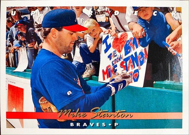 MLBカード 93UPPERDECK Mike Stanton #090 BRAVES