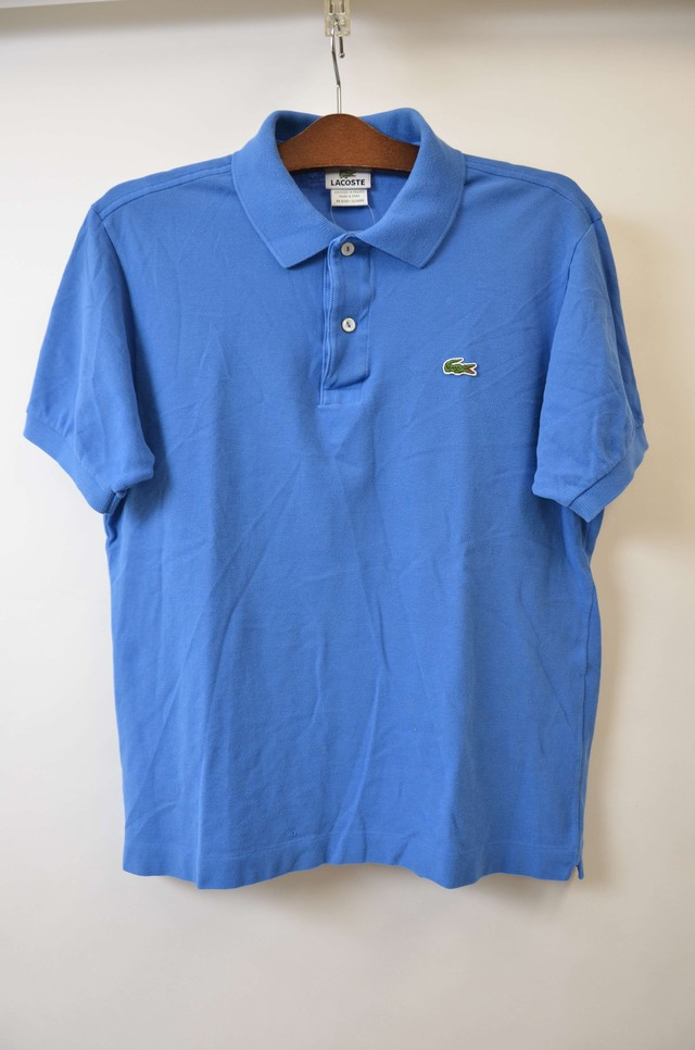 【XSサイズ寸】 LACOSTE ラコステ ONE POINT POLO ポロシャツ BLUE 400603190710