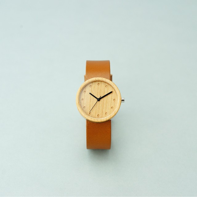 Cherry wood - Organic leather Honey - M