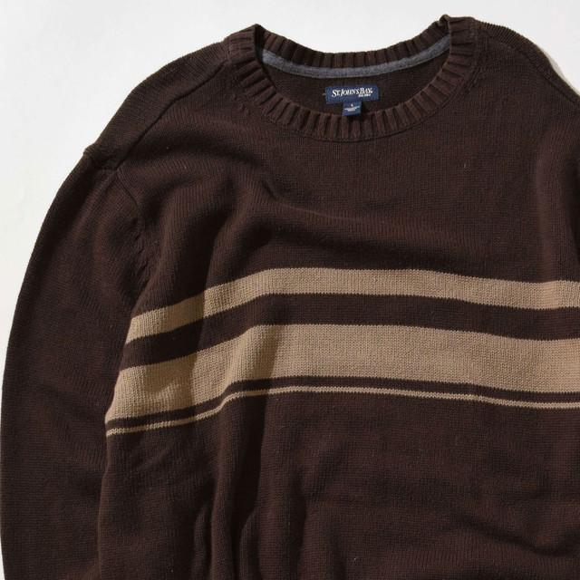 【Lサイズ】ST.JOHNS BAY セントジョーンズベイ Sweater セーター BRN ブラウン L 400604191212