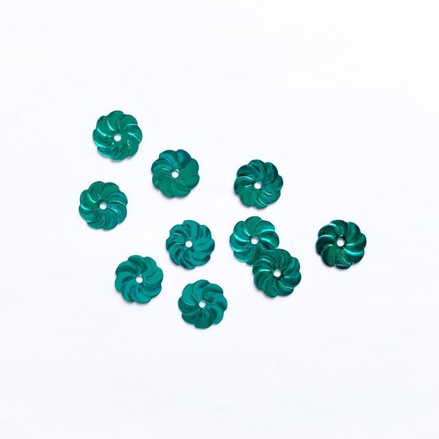 スパンコール(グリーン、ブルーフラワー)10p