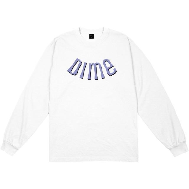 DIME WHIRL L/S SHIRT WHITE