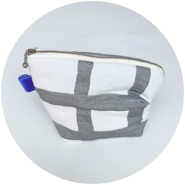【クシュポーチ】cross yarn/ブラック/original design