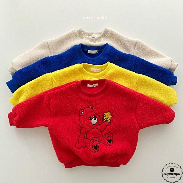 «sold out» mokomoko bear sweat 4colors もこもこベアースウェット