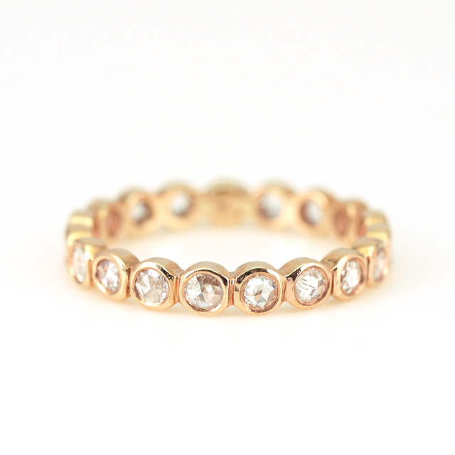 Rosecut diamond eternity ring