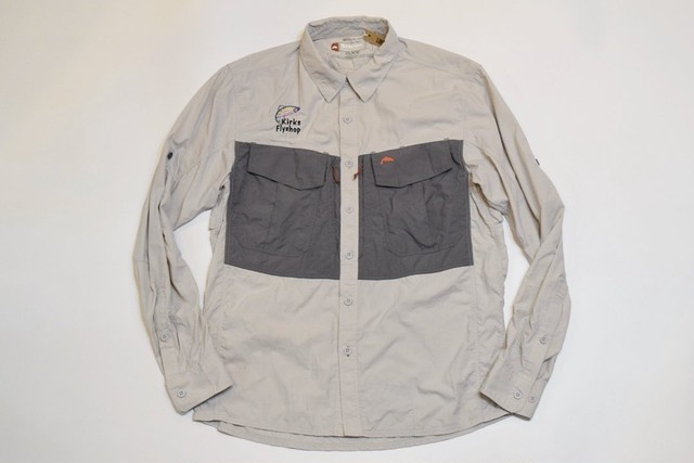USED SIMMS GUIDE Series L/S Fishing shirt -Small 01112