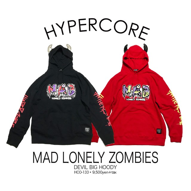 O-133 MAD LONELY ZOMBIES デビルパーカー