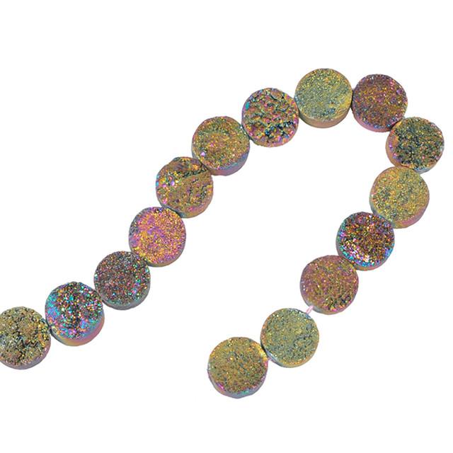[天然石 パーツ]ドゥルージー カボションラウンド(ユニコーンAB)1個 D0189