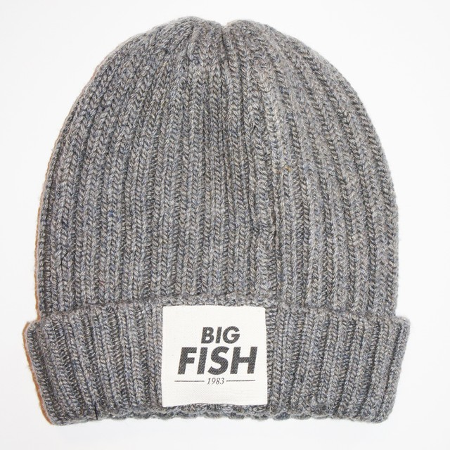 BONNET GREY LOGO BIG FISH 1983