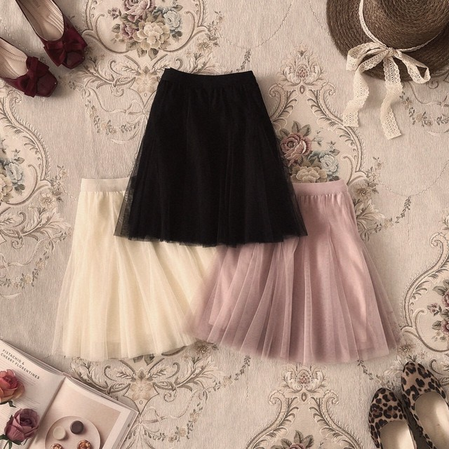 【meltie】tulle mini skirt
