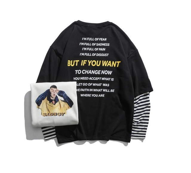 【DOPE】BUTデザインボーダーレイヤーTシャツ 2カラー