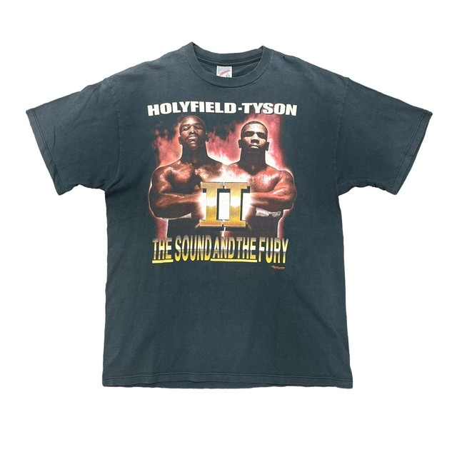MIKE TYSON HOLY FIELD THE SOUND AND THE FURY TEE JERZEES LARGE 5152