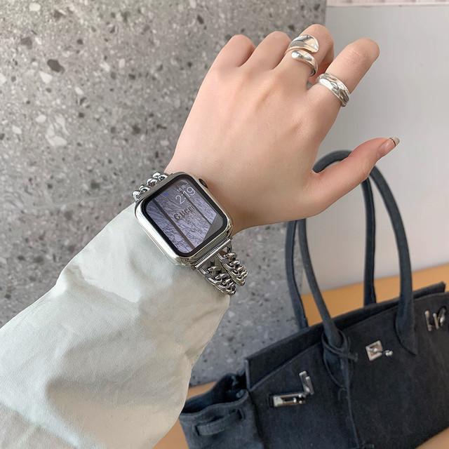 chain apple watch belt(4 colors)