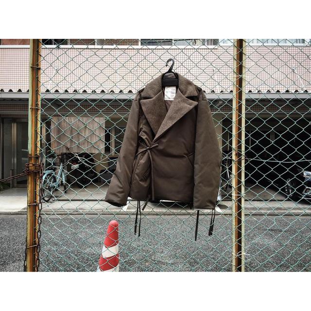 パイン  ショート ダウン ジャケット Short Down Jacket Brown MB901 Pine