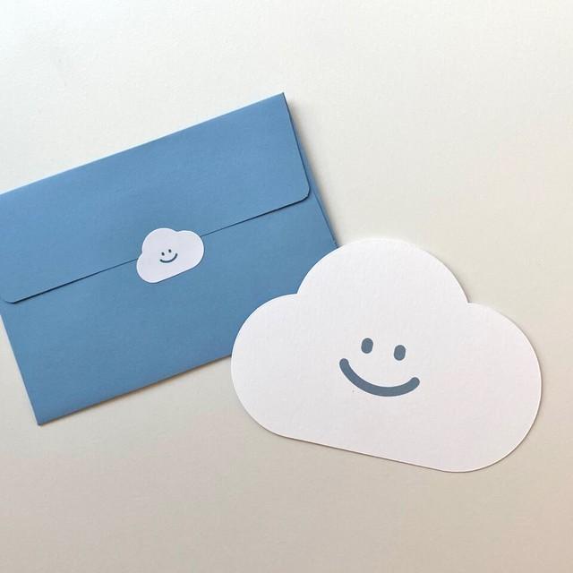 [skyfolio] くも 封筒付きミニメッセージカード