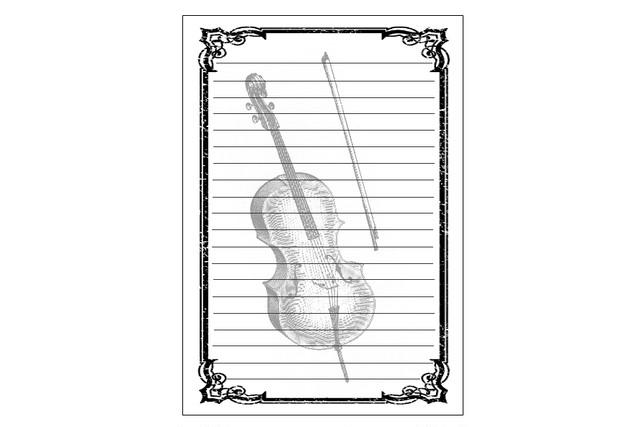 チェロのレターセット