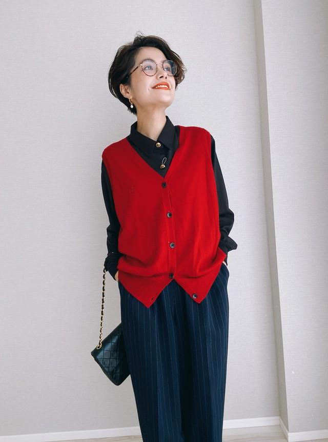 (KN185)CHAPS Ralph Lauren knit best /タグ付き