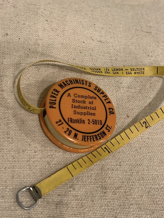 """TAPE MEASURE  """" PULVER MACHINISTS SUPPLY CO. """""""