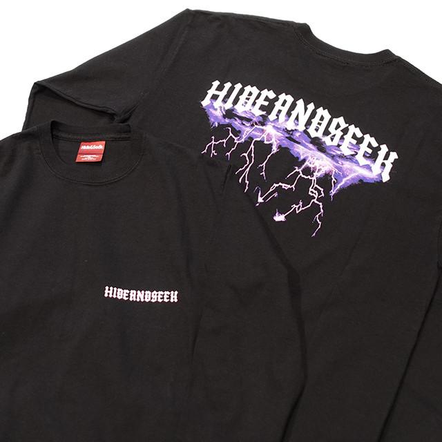 HIDEANDSEEK(ハイドアンドシーク) / LIGHTNING LOGO L/S TEE(HC-080721)(ロングスリーブTシャツ)