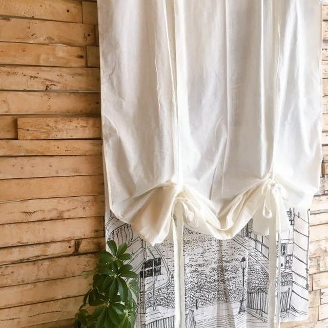 TOPANGA Homefurnishing  コットンシーチング ブラインドカーテン W110×H240cm