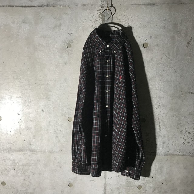 [ Ralph Laurent ] black × red checked shirt