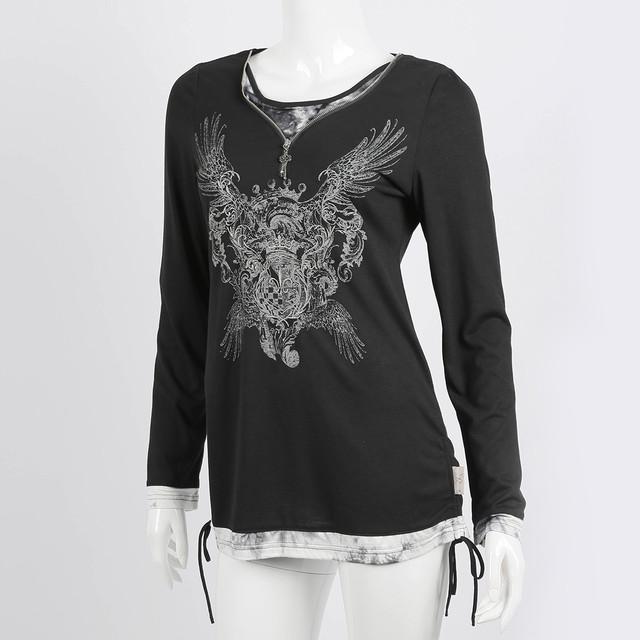 ローゼンプリント&刺繍入りTシャツ 3230107a