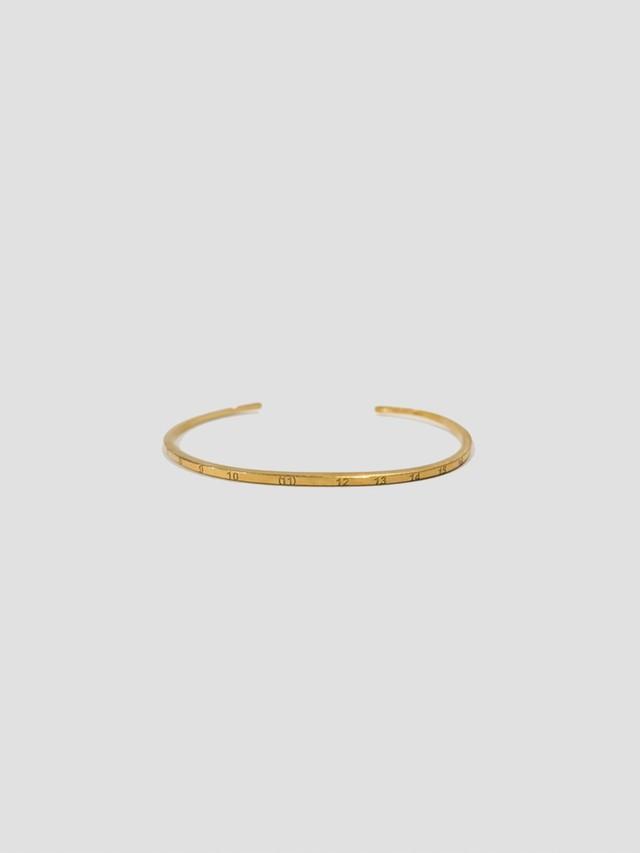 MAISON MARGIELA Calendar LOGO Bracelet Yellow Gold Semi Polished Plating + Palladio Semi Polished SM1UY0030