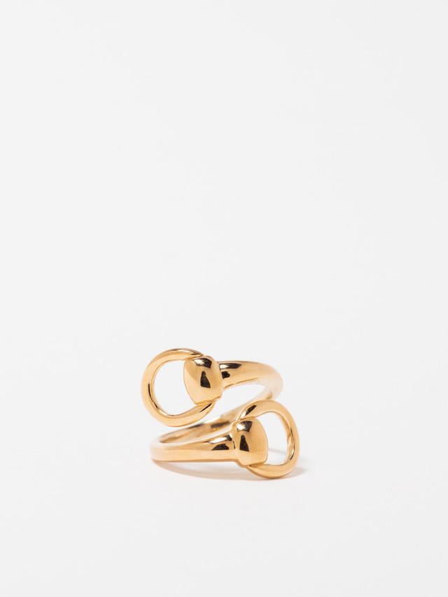 Horsebit Bypass Ring / America