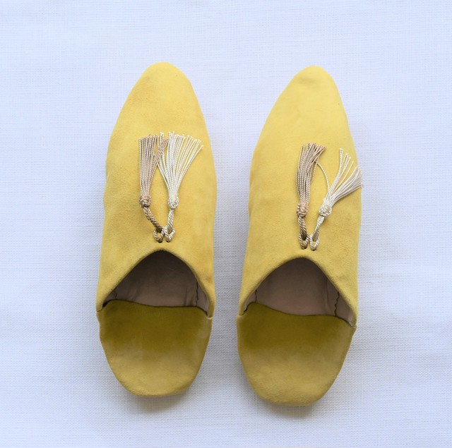"SØMME / TASSEL BABOUSH  SUEDE ""Lights Yellow"""