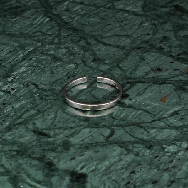 S925 SIMPLE FLAT RING SILVER