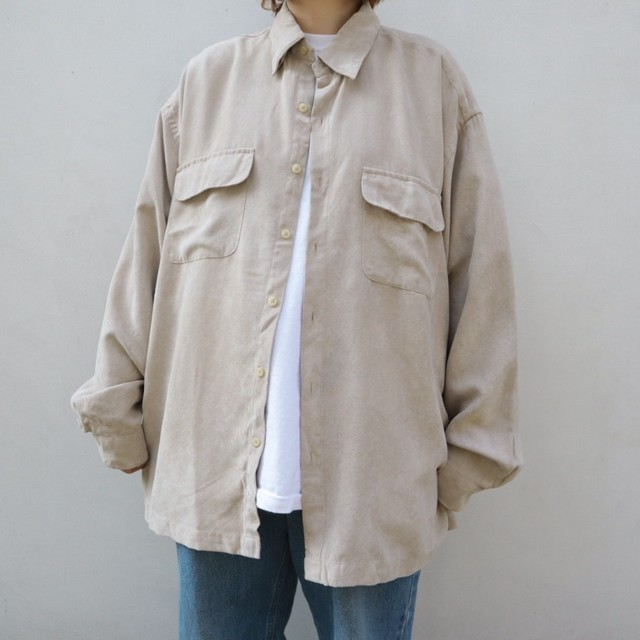 Faux suede beige shirt